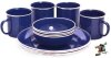 Oztrail 12 piece Enamel Dinner Set