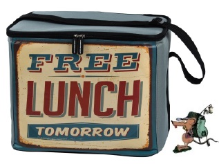 "LQuip Retro Soft Cooler Bag ""Free Lunch Tomorrow"" - PackRat"