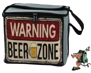 "LQuip Retro Soft Cooler Bag ""Beer Zone"" - PackRat"